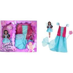 Funville Sparkle Girlz Doll with Dress Up, African American, Fairy, Multicolor