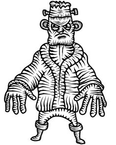 Frankenstein Coloring Pages - Worksheet School