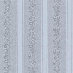 Rennie Stripe Grey Scrolling Stripe Wallpaper