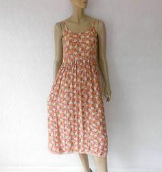 80's Vintage Grunge Dress Bohemian Romantic Midi by luvofvintage, $26.00