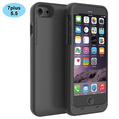 iPhone 7 Plus Battery Case,KINGCOO Portable Charger External Battery Backup Charger Case Pack Power Bank for iPhone 7 Plus inch (Black) Best Iphone, Iphone 5s, Iphone 7 Plus, Apple Iphone, Iphone Cases, Best Battery Charger, Portable Charger, How To Make Camera, Gadgets Online