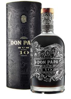 Recently launched, the Don Papa Rum is aged for a longer 10 years in re-charred American oak. As a result, it's darker, deeper and richer and has a volume strength of (Don Papa Rum) Tequila, Cigars And Whiskey, Scotch Whiskey, Alcohol Bottles, Liquor Bottles, Rum Cocktails, Alcoholic Drinks, Summer Cocktails, Bottle Packaging