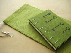 Coptic binding allows the book to open and stay completely flat making it easy to write in.