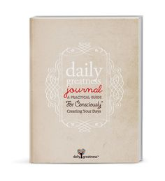 dailygreatness journal: a practical guide for consciously creating your days. 432 full-colour pages combining a yearly diary, goal and appointment planner. Complete with gratitude journal, weekly & quarterly planners and a yearly review. It's a unique gift for someone special. Order yours on Amazon.com and Amazon.co.uk (with free shipping) for a chance to win 5 free copies for you and your girlfriends. $30