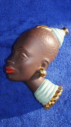 Rare Art Deco Goldscheider Austria Beauty African, Blackamoor Wall Mask 1930's | eBay