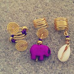 Loc Jewelry 3pc Gold Wire Purple on Etsy, $12.50