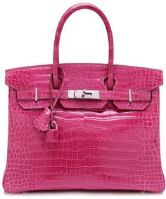 5d4b54fa0c Heritage Auctions Special Collections 30Cm Shiny Fuschia Porosus Crocodile  Hermes Birkin  64