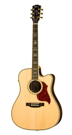 Gibson Songwriter Deluxe Custom EC Acoustic-Electric Guitar, Antique Natural