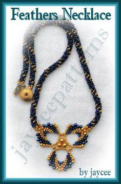 Feathers necklace PATTERN by jayceepatterns on Etsy, $8.70