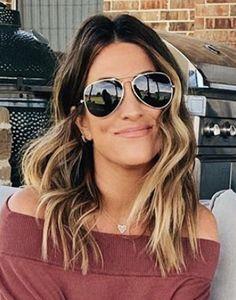 Sunglasses Women, Hair Makeup, Hair Cuts, Beautiful Women, Make Up, Hair Styles, Beauty, Color, Fashion