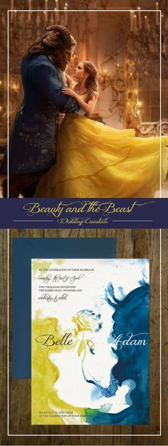 Beauty and Beast Wedding Invitations for your Beauty and the Beast Wedding. Repin it to save it later for your own whimsical wedding!