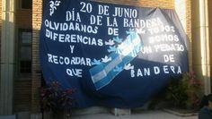Telon dia de la bandera