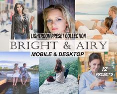 Bright & Airy Mobile and Desktop Lightroom Presets, Blogger and Lifestyle Presets Professional Lightroom Presets, Landscape Photos, Your Image, Love Story, Your Photos, Photo Editing, Desktop, Photoshop, Bright