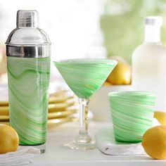 Twirlin green barware #kirklands #creativekitchen #barware