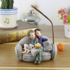 DecBest Couple Night Light Resin Crafts Ornaments Retro Lovers Miniature Figurines LED Lamp Ideal Gifts is Multicolor-NewChic Mobile Sweet Night, Night Couple, Miniature Figurines, Craft Night, Resin Crafts, Creative Gifts, Light Decorations, St Kitts And Nevis, Night Light