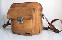 Vintage Marsand Multi Compartment Camera Bag Leather by smilehood