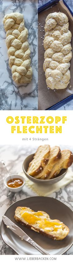 Osterzopf-Flechten mit 4 Strängen: einfache Schritt-für-Schritt Anleitung