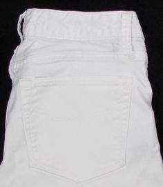 Women Gap 1969 Long & Lean White Jeans Boot Cut Mid Rise Stretch sz 4 / 27 X…