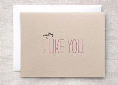 Cute Valentine Card  I Like You Card  by HappyDappyBits on Etsy, $4.25