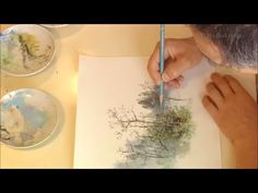 (1) Studio Ghibli Artist Kazuo Oga Painting Process - YouTube