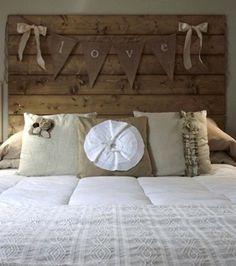 Bett aus treibholz  bett-kopfteil liebeserklärung lassen-schlafzimmer dekorieren ...