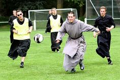 Priests playing soccer