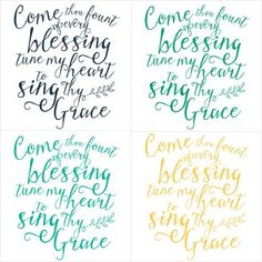"""The hymn """"Come Thou Fount"""" reminds us where our blessings come from. Such a season to be grateful and thankful for all we have!   Free Printable Available at TheTurquoiseHome.com"""