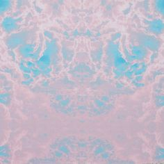 Pink/Blue Abstract Clouds Digitally Printed Stretch Neoprene/Scuba Knit Fabric by the Yard | Mood Fabrics