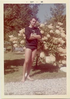 Young Clark Jr., was as pleased as punch that he had inherited his mama Minnie's shapely legs.