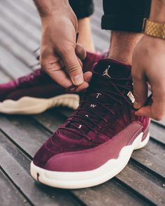 Air Jordan 12 Bordeaux Release Date. Air Jordan 12 dressed in Bordeaux 4051375fd
