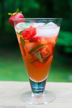 Strawberry Basil Mojito what I would do for one of you right now