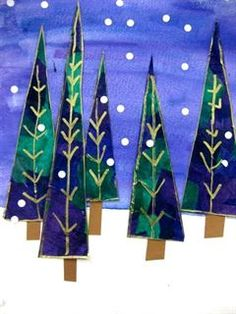 Check out student artwork posted to Artsonia from the Christmas Trees project gallery at Leeds Public School.