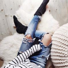 distressed & stripes