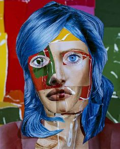 Portrait with Blue Hair, 2013 © Daniel Gordon