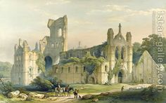 Kirkstall Abbey from the North West by William Richardson