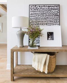 Modern Entryway, Entryway Decor, Entryway Tables, Wall Decor, Diy Wall, Foyer Decorating, Decorating Tips, Empty Spaces, Indoor Outdoor Rugs
