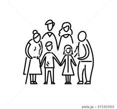 Big family children parents and grandparents