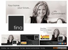 This is a facebook banner, but I love it. the photo is warm and inviting; love the black and white. I could see this with the real estate search tool below the photo