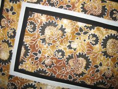 Floral Table Runner  Silver Metallic on Batik by PicketFenceFabric, $38.00