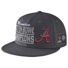 936c53fa4dc Nike Alabama Crimson Tide Anthracite College Football Playoff 2015 Cotton  Bowl Champions Players Locker Room Snapback Adjustable Hat