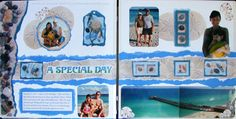 vacation scrapbooking ideas | 2 Page Scrapbook Layout Ideas