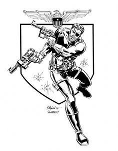 Great Nick Fury drawing