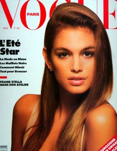 Vogue Paris, May 198? Model : Cindy Crawford