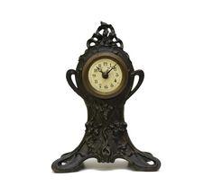 Art Nouveau Alarm Clock. Antique French Alarm Clock.