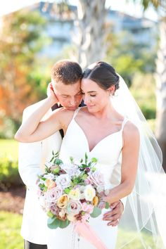 Classic white tux, garden wedding bouqet, timeless bride made this coastal garden wedding seem like a fairytale. The antique rosary hanging from her bouquet gave it that personal touch White Tux, Coastal Gardens, Classic White, Garden Wedding, Fairytale, Bouquet, Touch, Antique, Weddings