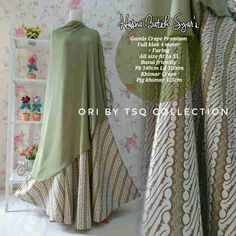 Baju Muslim Katun Premium B112 Hasna Batik Cantik - http://bajumuslimbaru.com/baju-muslim-katun-premium-b112-hasna-batik #BajuMuslimBatik, #BajuMuslimUmbrella