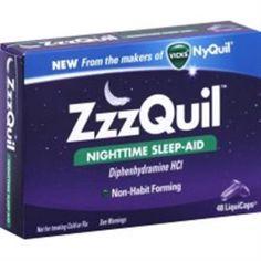 ZzzQuil Nighttime Sleep-Aid LiquiCaps 48 LiquiCaps (Pack of 2) - Walmart.com.  (1)