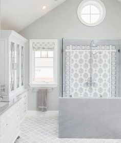 """108 Likes, 3 Comments - StoneImpressions (@stoneimpressions) on Instagram: """"The bathroom of our dreams!  Our Paige tiles were lucky enough to make it into this…"""""""