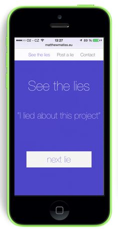 first phase of the new #responsive #html5 web project called YourLies.net
