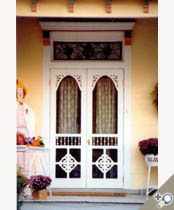 Double Chelsea Screen U0026 Storm Door Painted White And Installed With Brass  Hardware. Browse More Victorian Door Deisgns Which Can Be Made Into Double  Door ...